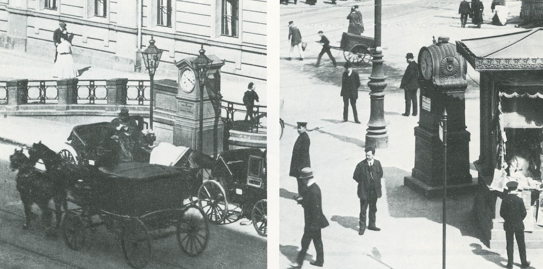 I primi orologi stradali di Berlino