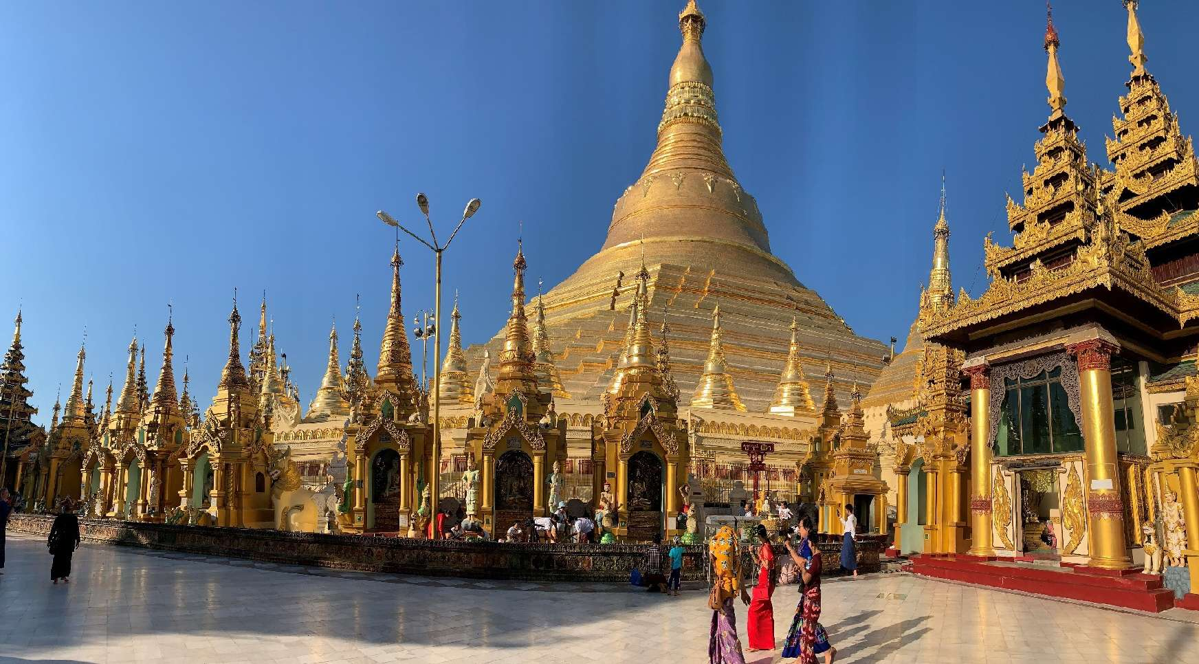 Yangon, Pagoda di Shwedagon