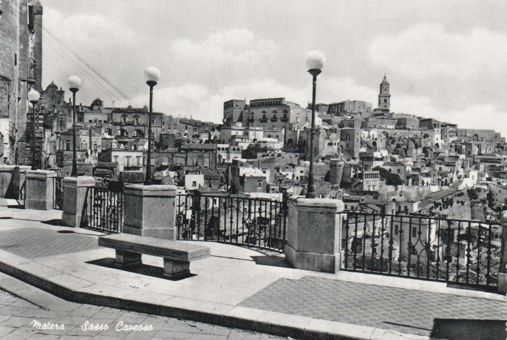 Matera, veduta sul Sasso Caveoso, 1955