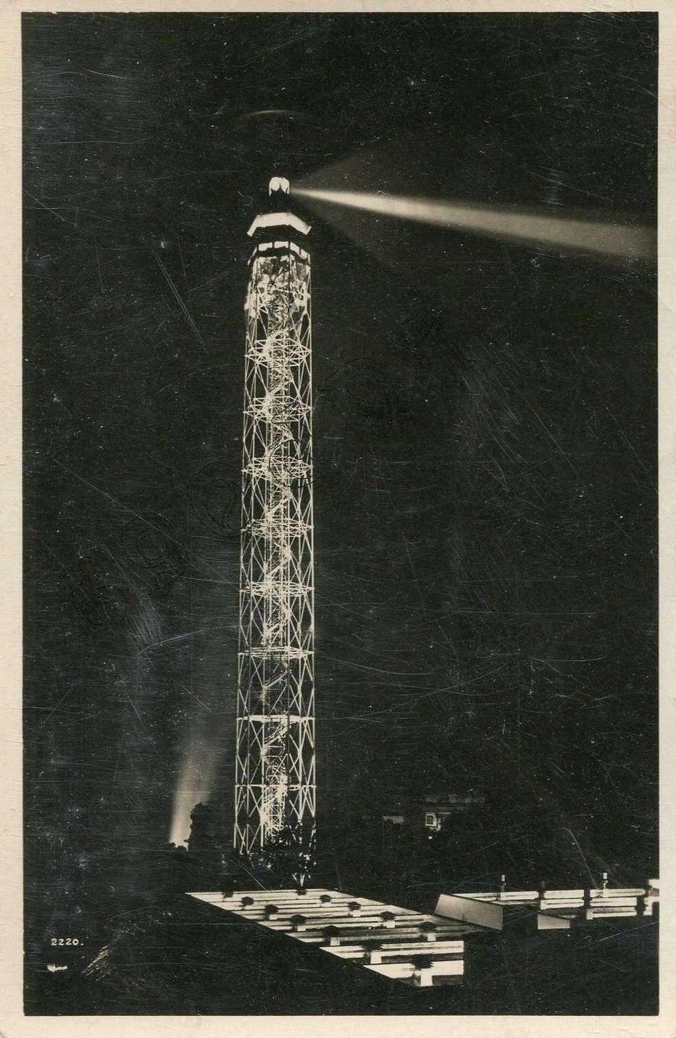 La Torre Littoria in una cartolina del 1933