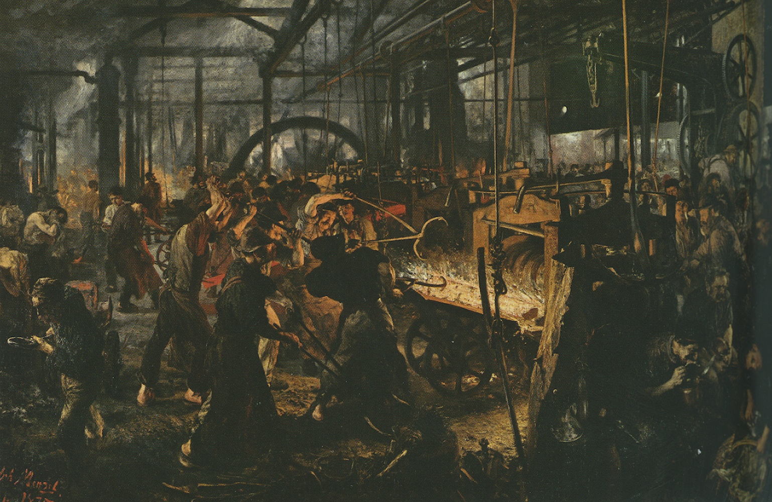 A. Von Menzel, La fornace col laminatoio, 1875