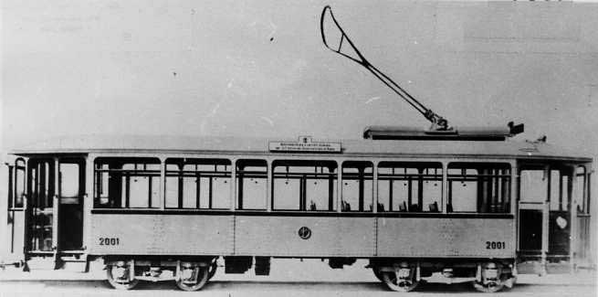 Carrozza tramviaria realizzata dalla Carminati, Toselli & C., 1927