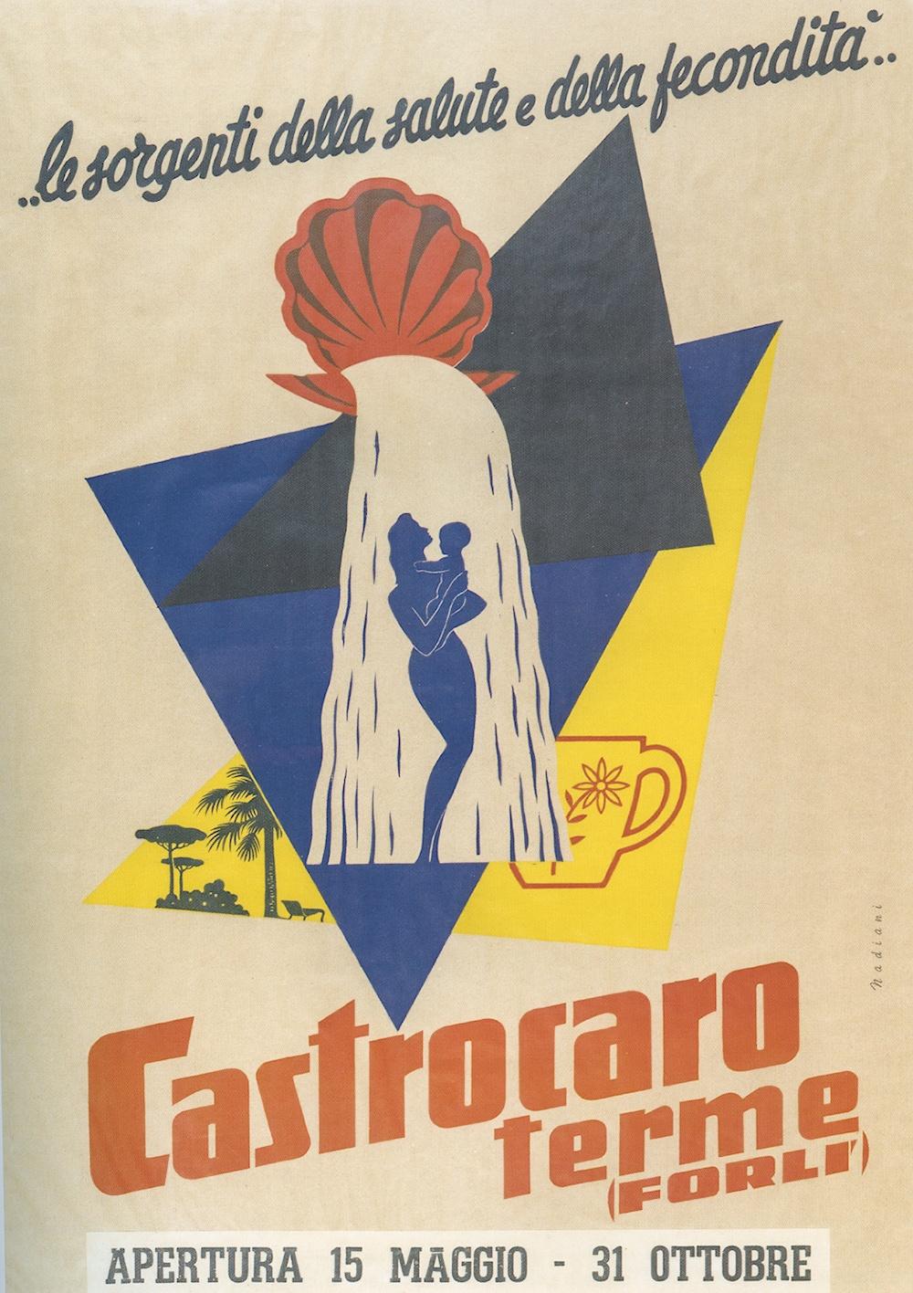 Manifesto pubblicitario delle Terme di Castrocaro