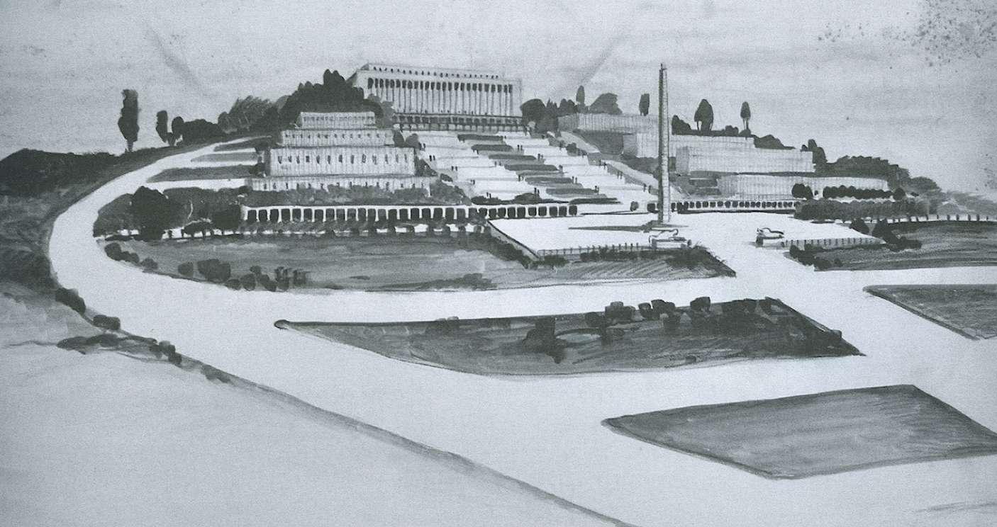 Cesare Valle, P.R.G., disegno per il Palazzo Vicereale di Addis-Abeba (Etiopia), 1939