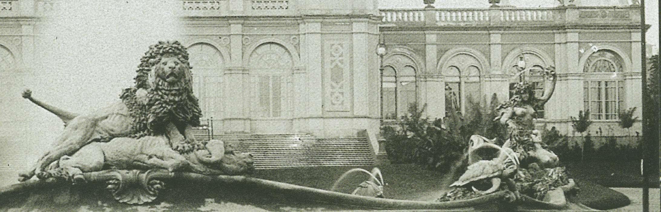 Diego Sarti, la fontana  in cemento nel piazzale dell'Esposizione Emiliana, Bologna, Giardini Margherita, 1888