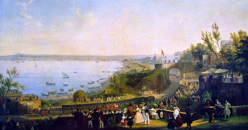 Salvatore Fergola, Inaugurazione della ferrovia Napoli Portici, 1840