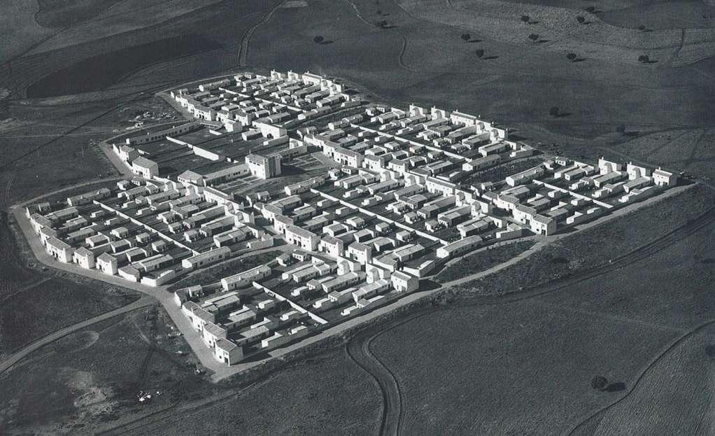 Foto aerea di Villalba de Calatrava, 1955, foto hombredepalo.com