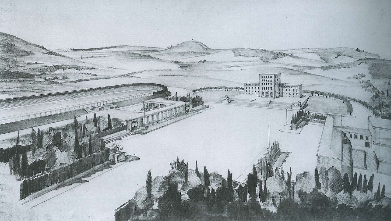 G. Bosio, Progetto di edifici e piazza del Fascio, Tirana, 1939-40