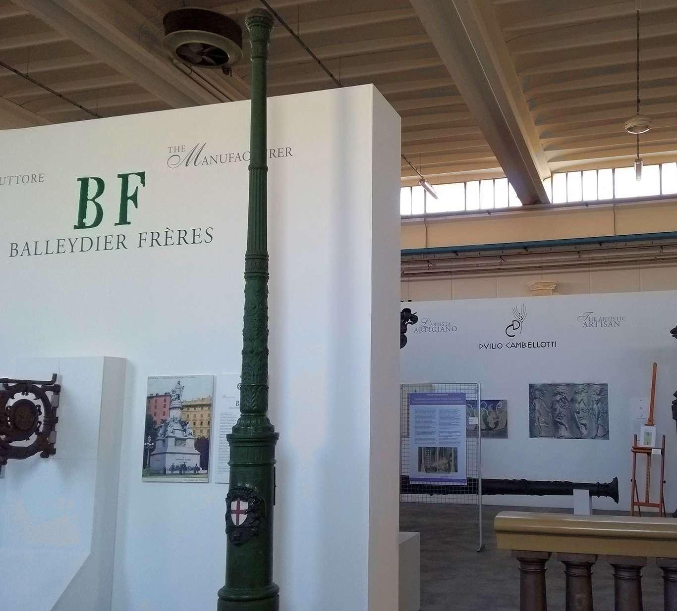 Il palo della Balleydier Freres esposto al Museo Italiano della Ghisa