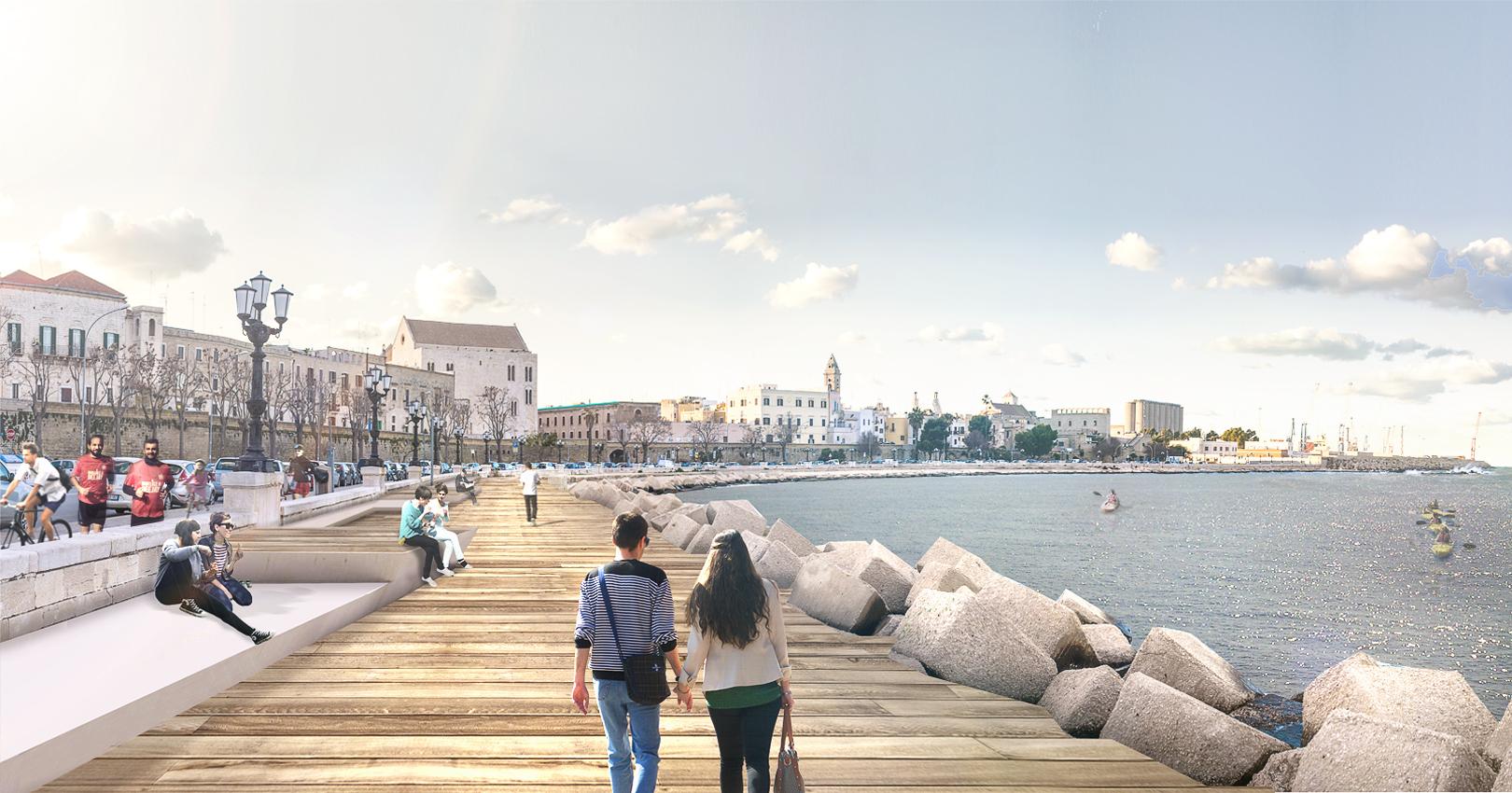 Bari, Lungomare Imperatore Augusto, progetto vincitore del concorso, © Sylos Labini