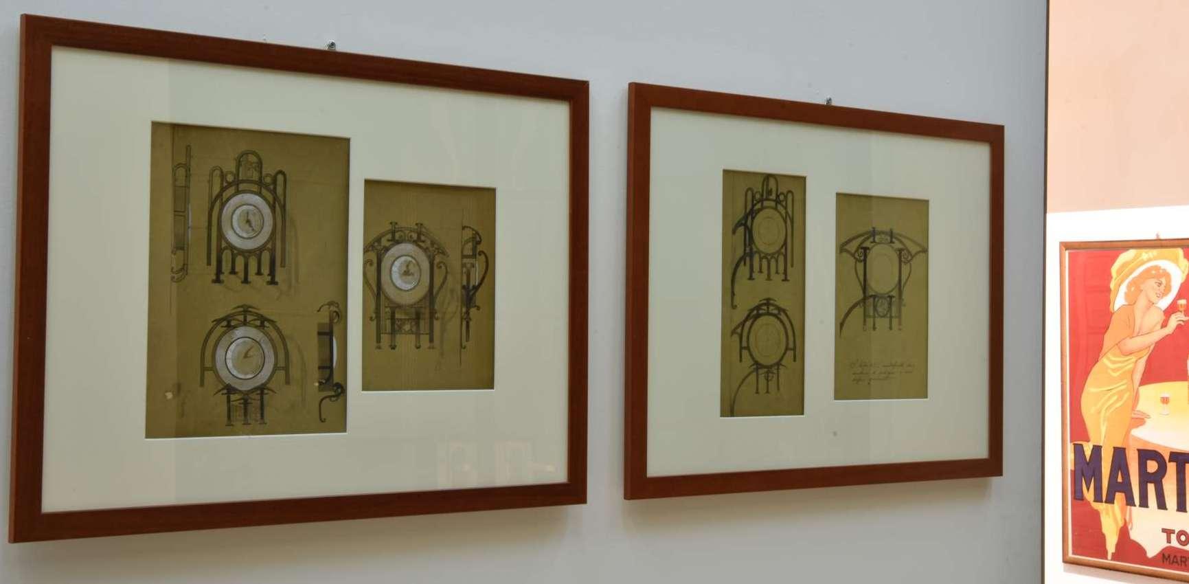 Duilio Cambellotti, Orologi stradali da muro, bozzetto, 1925, Fondazione Neri - MIG