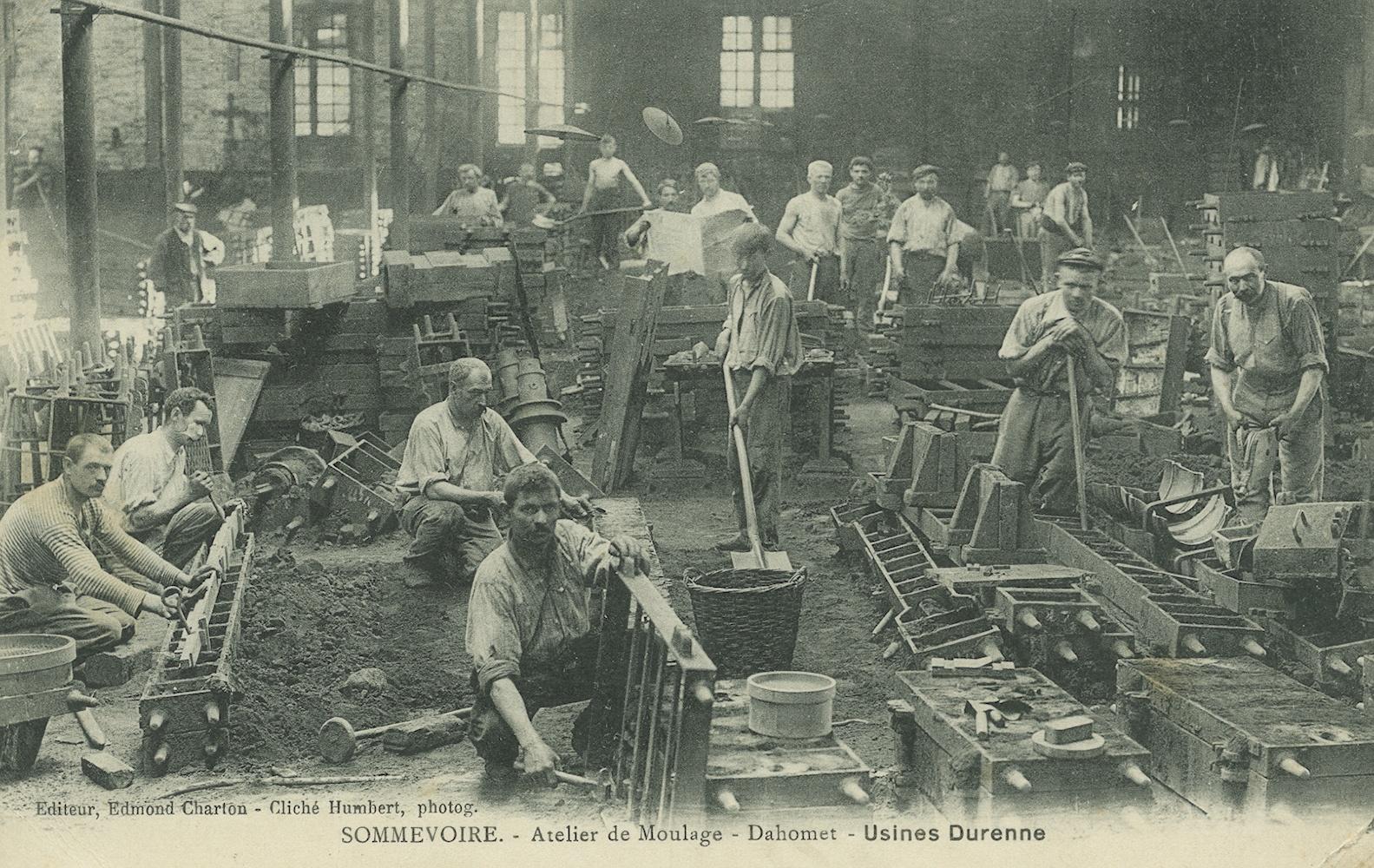 Operai al lavoro nella fonderia Durenne (Sommevoire, Francia), Archivio Fondazione Neri