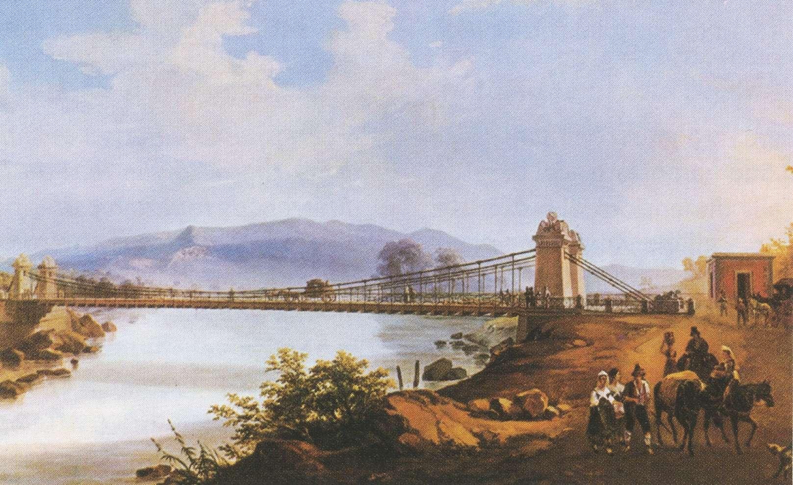 Fonderia di Mongiana, il ponte in ferro sospeso sul fiume Garigliano