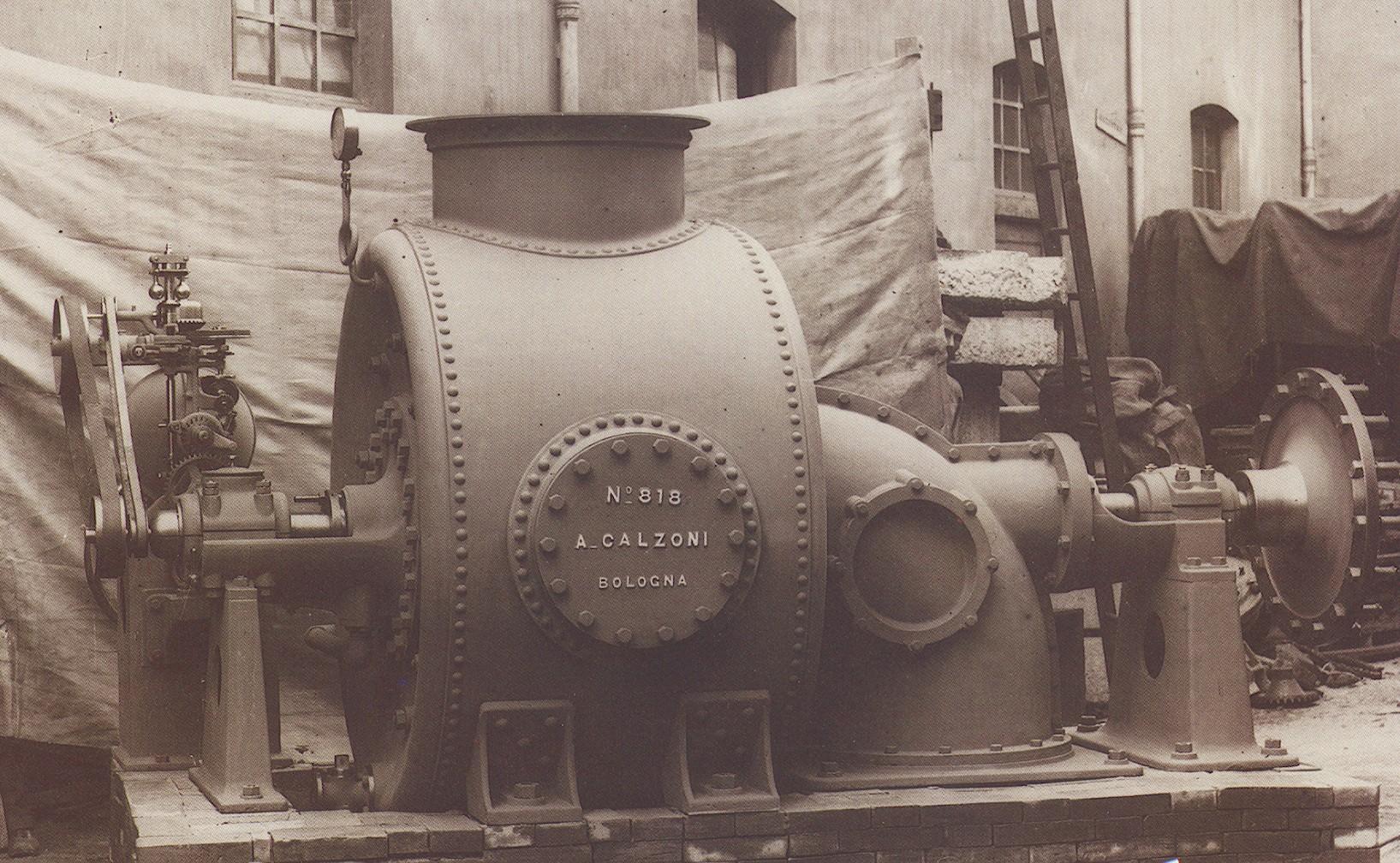 Turbina idraulica, Calzoni 1902