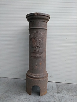 MIG, base in ghisa per lampione, 1882 (provenienza Argentina)