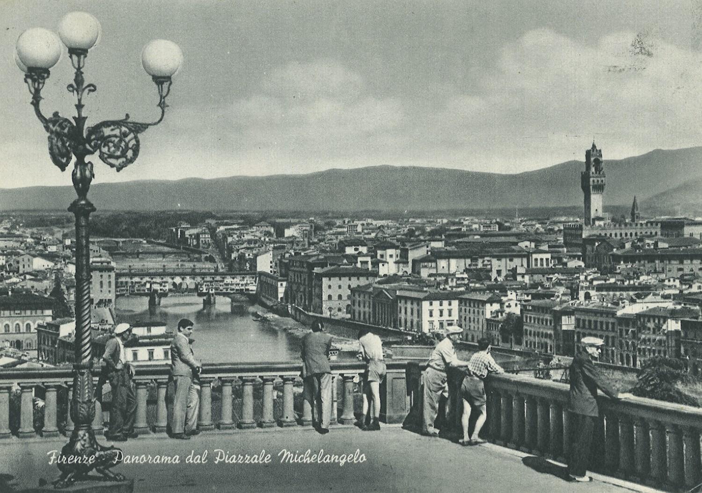 Piazzale Michelangelo, veduta di Firenze, 1957