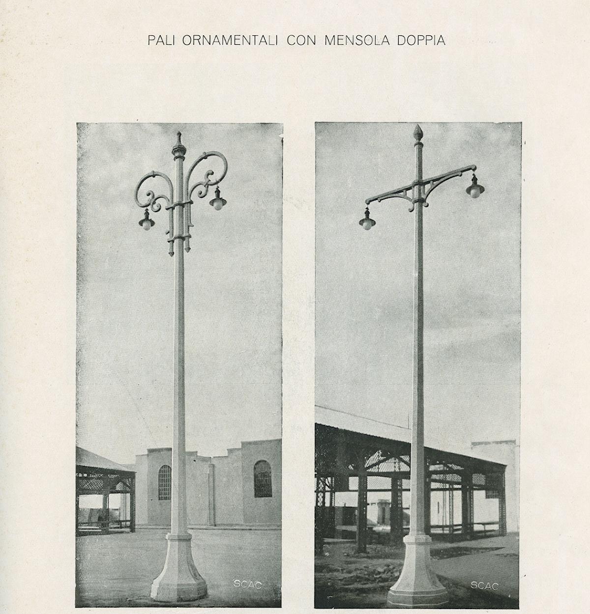 Catalogo SCAC, a destra il lampione di Fuorigrotta (Napoli)
