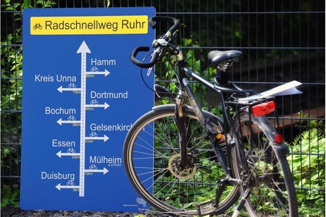 Il percorso dell'autostrada ciclabile della Ruhr in Grmania
