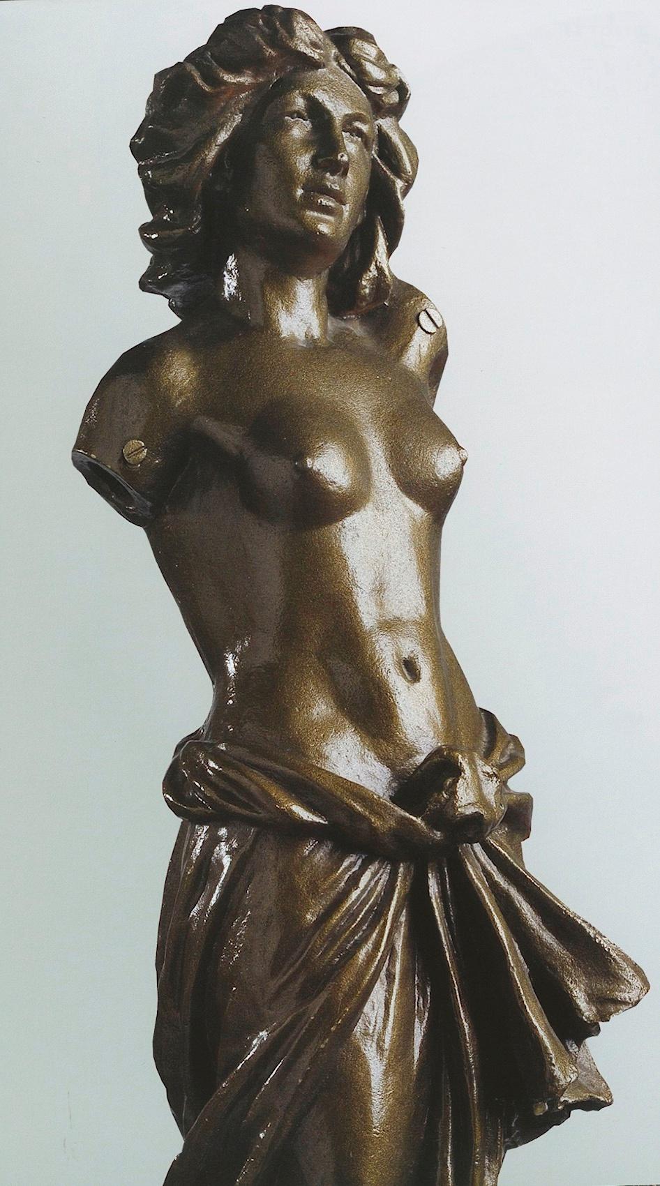 """""""Sirena Partenope"""", statua reggi lampada per lampione, 1900 ca., MIG"""